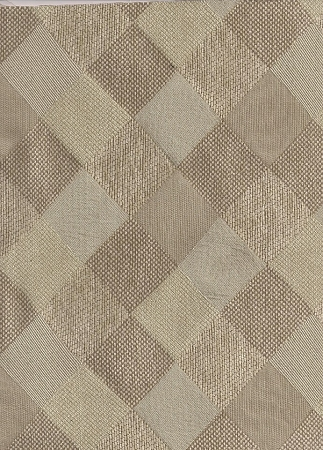 Modern Squares Diamond Pattern Upholstery Fabric White Tan