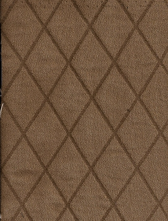 Rhombus Timber Brown Gold Diamond Pattern Upholstery Fabric
