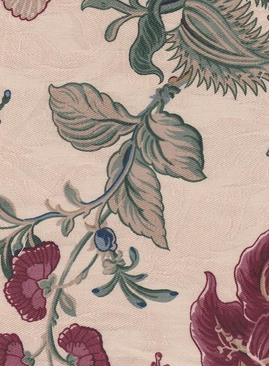 Waverly Montague Beige Red Green Floral Cotton Print