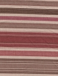 Waverly Maroon Brown Beige Stripe Cotton Print