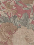 Covington Red Green Faded Floral Cotton Print