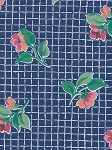 Stanley King Studio Flower Grid Blue Cotton Print