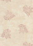 Two Tone Beige Flower Design Cotton Print
