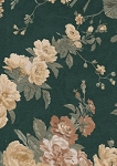 Waverly Regal Rose Green Yellow Floral Cotton Print