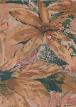 Carole Fabrics Brown Tan Green Floral Cotton Print