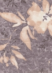 Violet Beige Cream Floral Cotton Print
