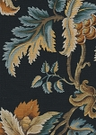 Covington Black Blue Yellow Floral Cotton Print
