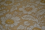 6.7 yds Martina Blonde Gold Beige Floral Upholstery Fabric
