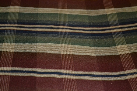 7 1 Yds Prestwick Harvest Red Green Plaid Upholstery Fabric