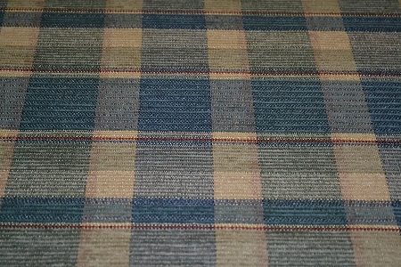 1 4 Yds Carmel Blue Beige Plaid Upholstery Fabric