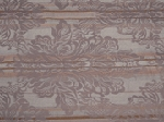 4.3 yds Tan White Brown Stripe Upholstery Fabric