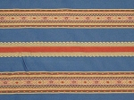5.3 yds Incognito Baltic Blue Red Gold Stripe Upholstery Fabric