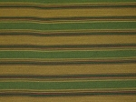 3.5 yards Green Gold Maroon Stripe Upholstery Fabric