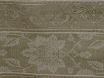 5.5 yds White Tan Floral Stripe Upholstery Fabric