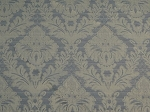 5.6 yds White Blue Victorian Style Upholstery Fabric