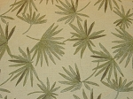 5 yds Escape Leaf Ivory Green Fern Pattern Upholstery Fabric