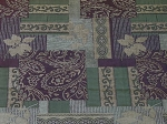 1.7 yds Tavi Plum Tan Green Upholstery Fabric
