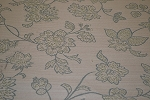 5 yds Charleston Nirvana Ivory Tan Floral Upholstery Fabric