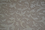 3.2 yds Ivory Bone Chenille Upholstery Fabric