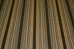 6.5 yds Stacatto Alpine Brown Gold Stripe Upholstery Fabric