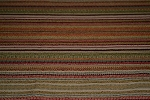 4.7 yds Masquerade Autumn Red Gold Stripe Upholstery Fabric