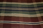7.2 yds Prestwick Harvest Red Green Plaid Upholstery Fabric