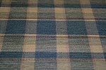 1.4 yds Carmel Blue Beige Plaid Upholstery Fabric
