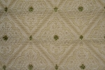 4.5 yards Rich Diamonds Gold Olive Upholstery Fabric