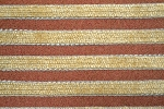 9.5 yards Vintage Stripes Red Brown Upholstery Fabric