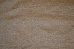2.1 yards Peanut Butter Brown White Upholstery Fabric