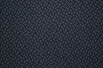 16 yards Link Blue Black Upholstery Fabric