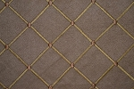 16.3 yards Lavish Diamonds Brown Gold Upholstery Fabric