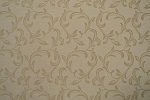 14.8 yards Decorative Floral Vanilla Bean Upholstery Fabric