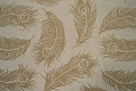 6.1 yards Milky Vanilla Brown Upholstery Fabric