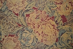 8.5 yards Dark Floral Various Colors Upholstery Fabric