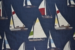12 yards Newport Navy Upholstery Fabric
