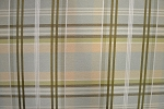 3 yards Plaid Chocolate Mint Upholstery Fabric