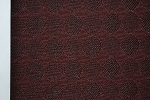 3.8 yards Circles Dark Red Upholstery Fabric