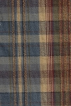 1.4 yards Jerome Midnight Blue Tan Red Plaid Upholstery Fabric