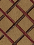 7.9 yards Gate Keeper Amber Brown Red Gold Diamond Pattern Upholstery Fabric