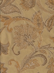 10 yards Gold Yellow Floral Paisley Pattern Upholstery Pattern