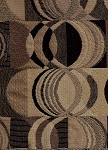 6.7 yards Jolley Ebony Black Brown Square Circle Retro Modern Upholstery Fabric
