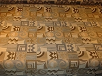 9 yards Modern Retro Squares Gold Black Upholstery Fabric