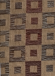 10 yards Modern Tan Chocolate Brown Gold Squares Upholstery Fabric
