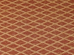1.5 yards Maroon Gold Diamond Pattern Upholstery Fabric