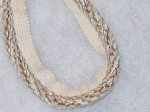 Ciminella Alfafa 1/2 inch Cord Trim White Tan Brown