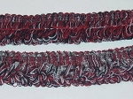 Pizzara 2 inch Loop Fringe Trim Maroon Black White
