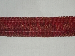 Scorpio 2 inch Loop Red Brown Gold Fringe Trim