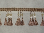 Lisbon 3 inch Tassel Trim Gold Brown