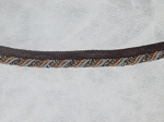 1/2 inch Cord Edge Trim Brown White Green Blue Gold